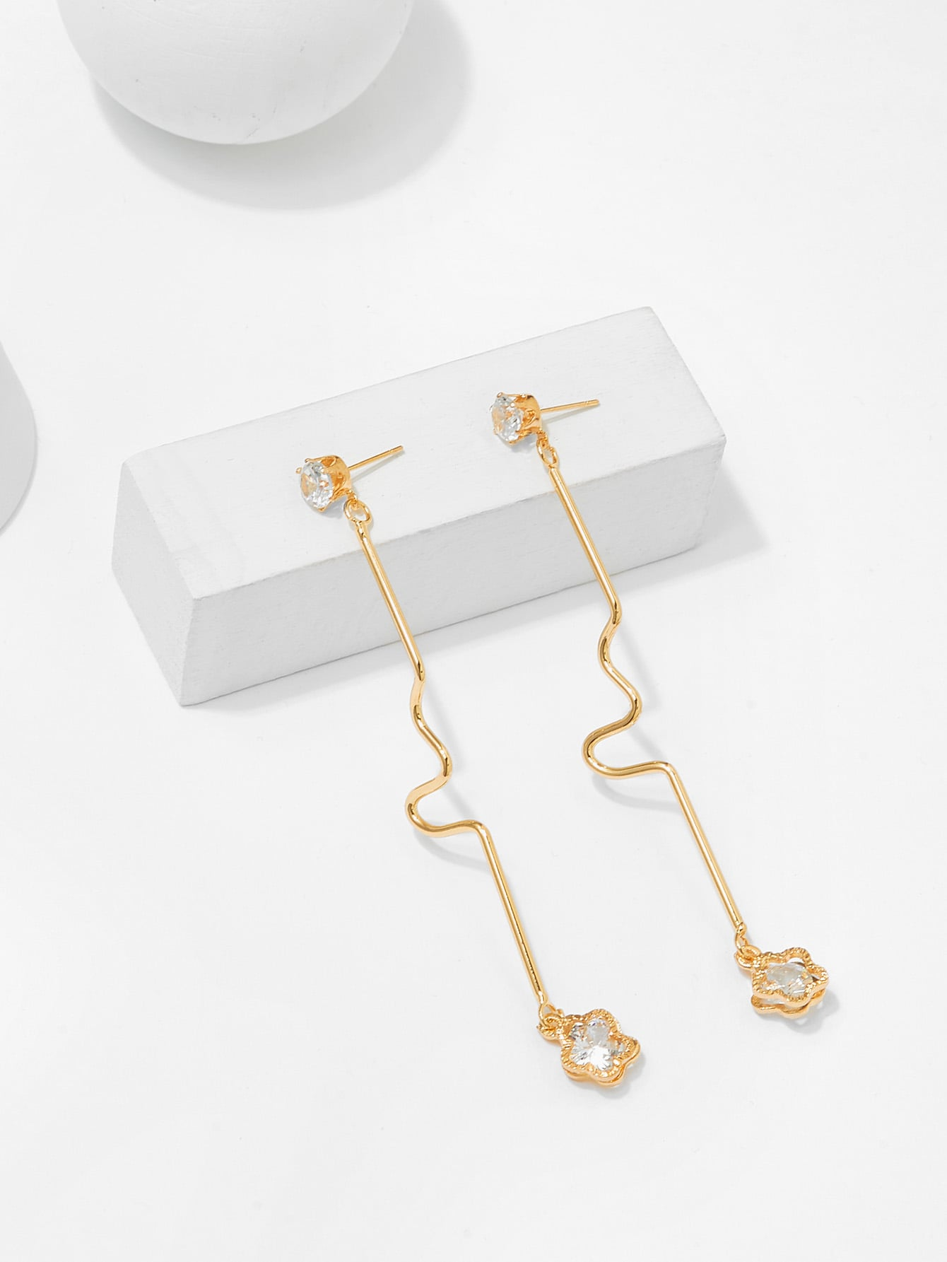 Irregular Bar Design Drop Earrings silver plated bar dangle drop earrings