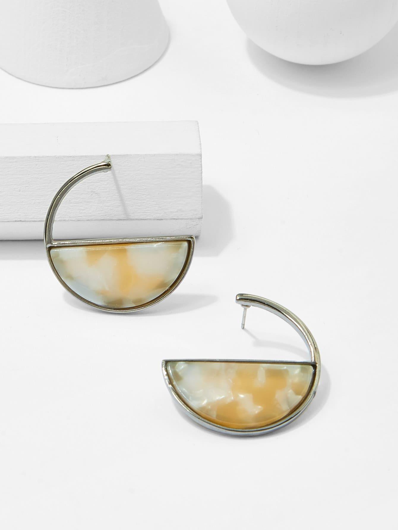все цены на Half Circle Hoop Earrings