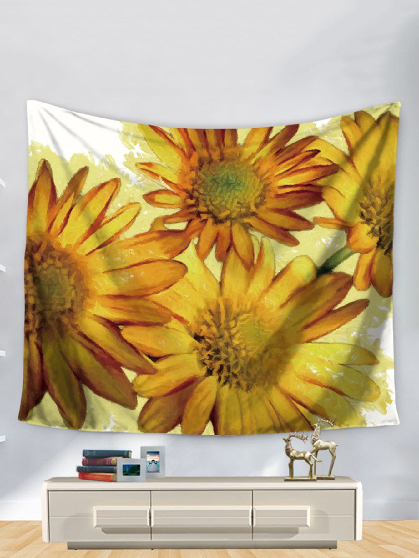 Sunflower Painting Print Tapestry