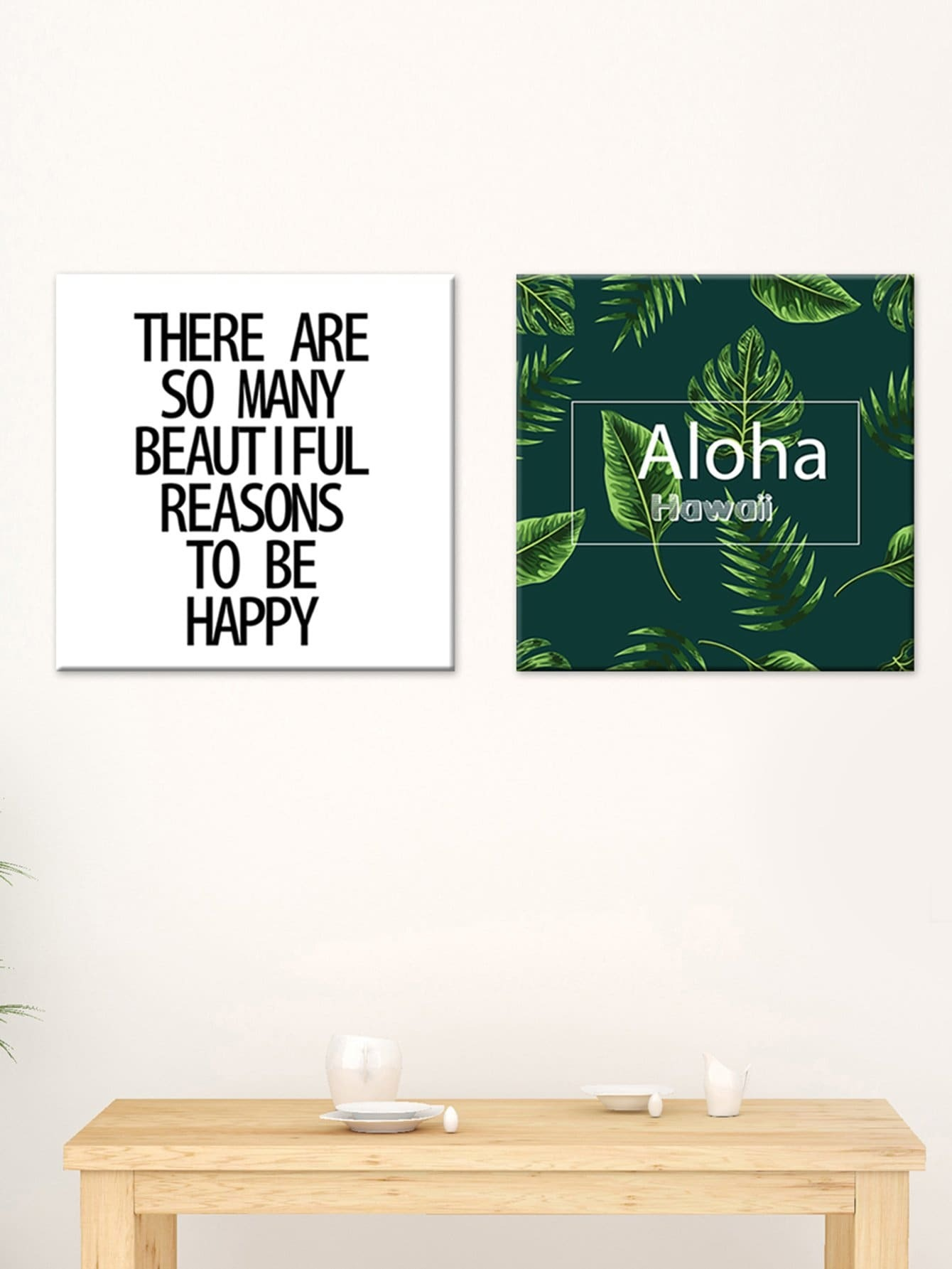 Motto Print Cloth Wall Art 2pcs motto wall sticker