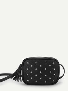 Tassel Studded Shoulder Bag