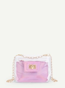 Clear Chain Bag With Pouch
