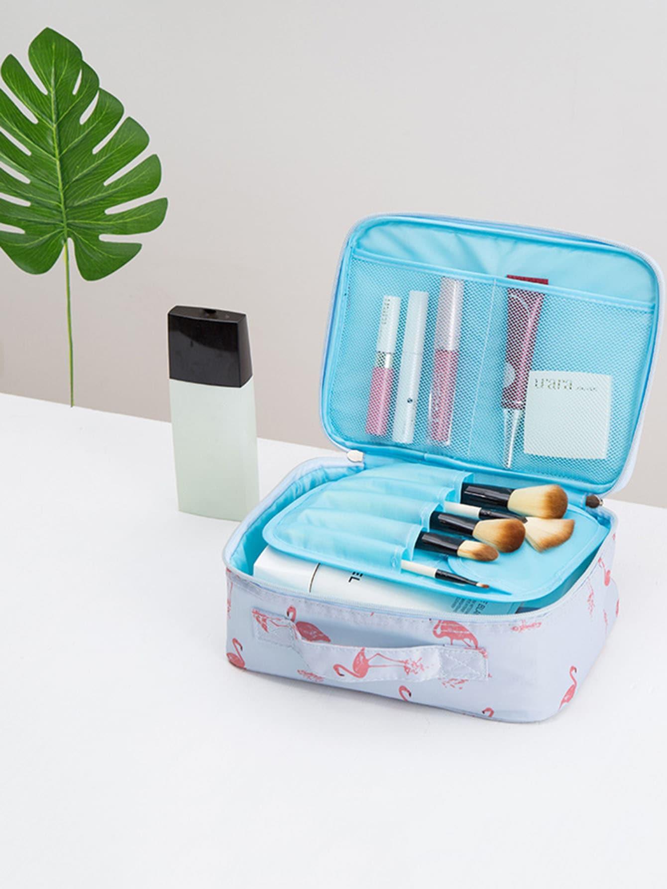 Flamingo Print Makeup Bag купить
