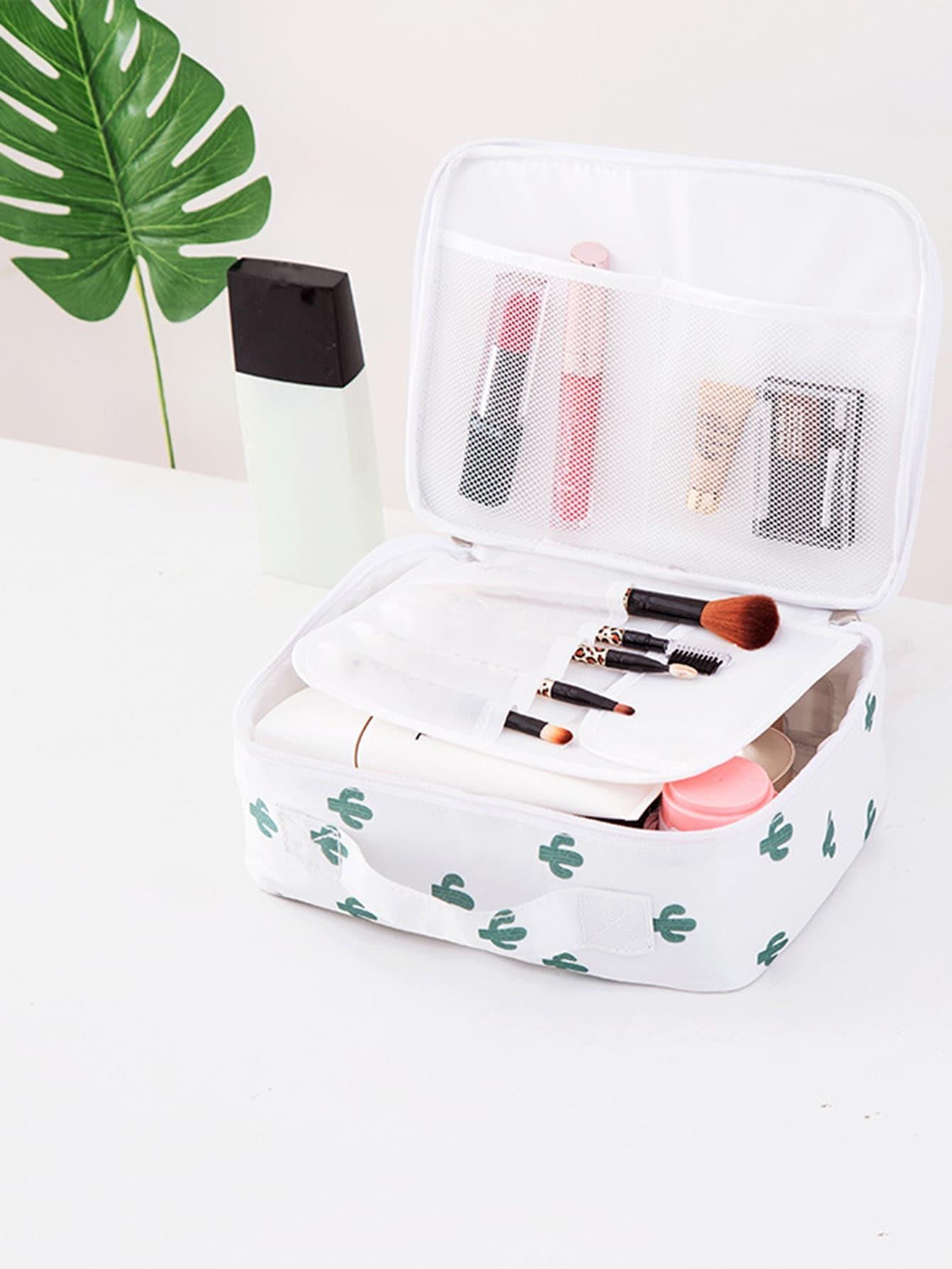 Cactus Print Makeup Bag dinosaur print makeup bag