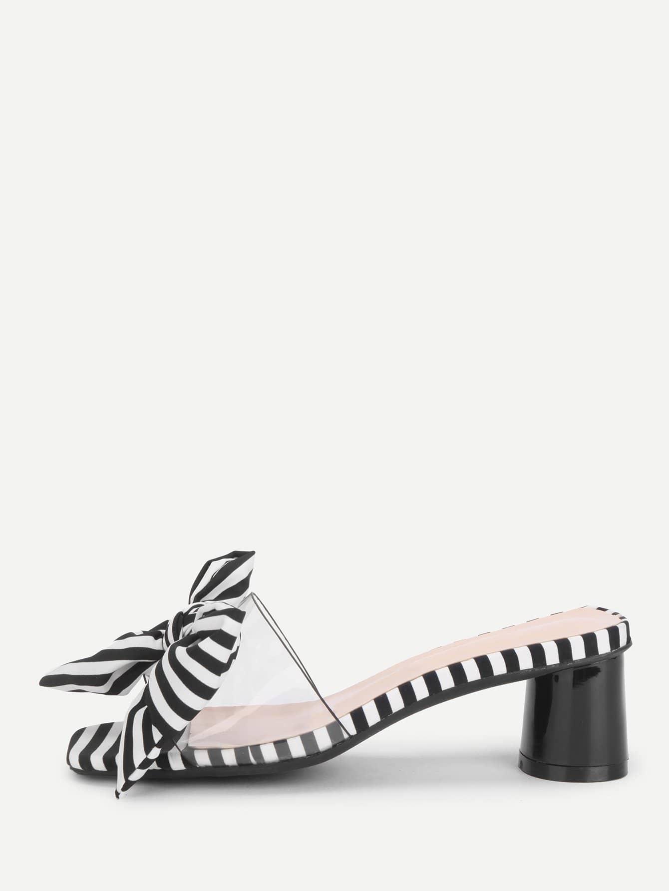 Туфли без задника зебра