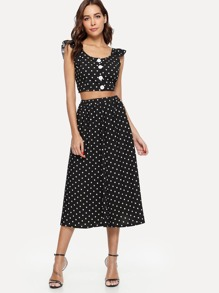 Polka Dot Cami With Dress