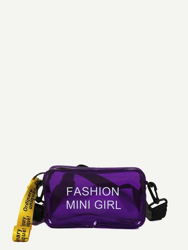 Clear Crossbody Bag by Sheinside