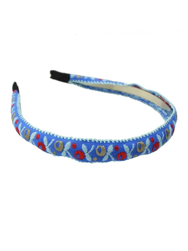 Ribbon Colorful Flower Pattern Hairband