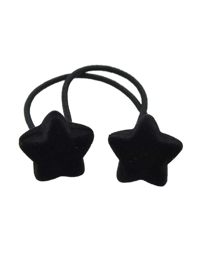 Black Wholesale Star Shape Elastic Hair Rope Band For Women