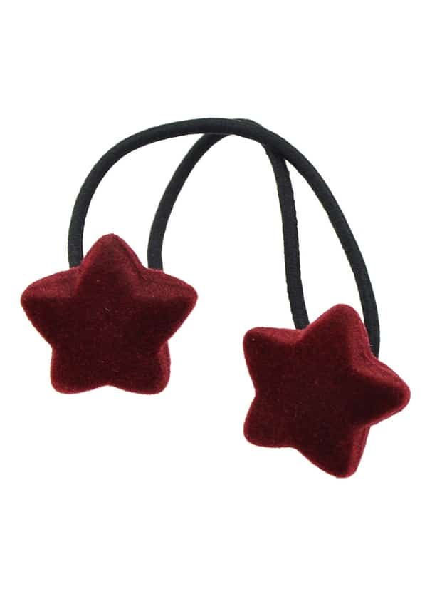 Red Wholesale Star Shape Elastic Hair Rope Band For Women