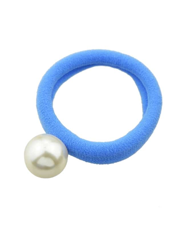 Blue 5 Colors Simulated Pearl Elastic Rope Bands