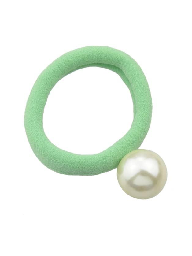 Green 5 Colors Simulated Pearl Elastic Rope Bands