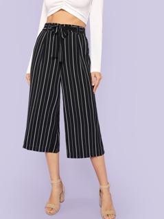 Flowy Stripe Chiffon Pants
