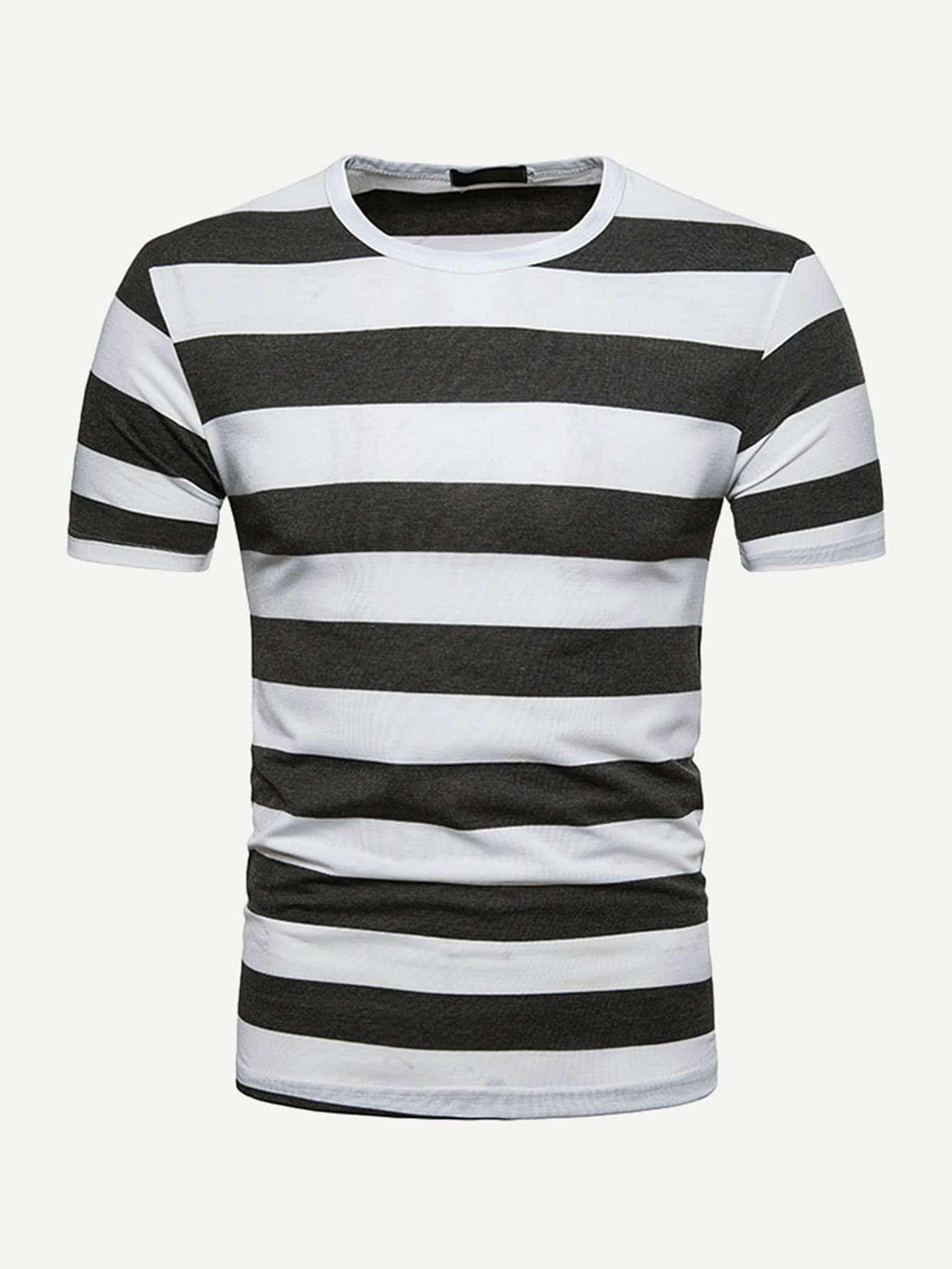 Men Striped Tee men rainbow striped tee