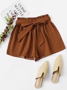 Self Tie Waist Shorts