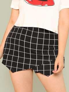 Plus Grid Wrap Shorts