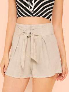 Tie Waist Flowy Shorts