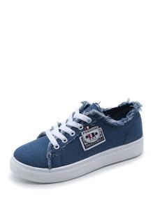 Raw Trim Denim Sneakers