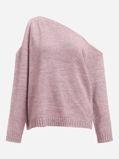Asymmetric Shoulder Sweater
