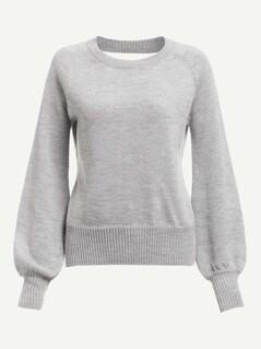 Twist Open Back Bishop Sleeve Sweater