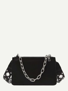 Eyelet Strap Clutch Bag