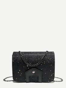 Glitter Chain Shoulder Bag