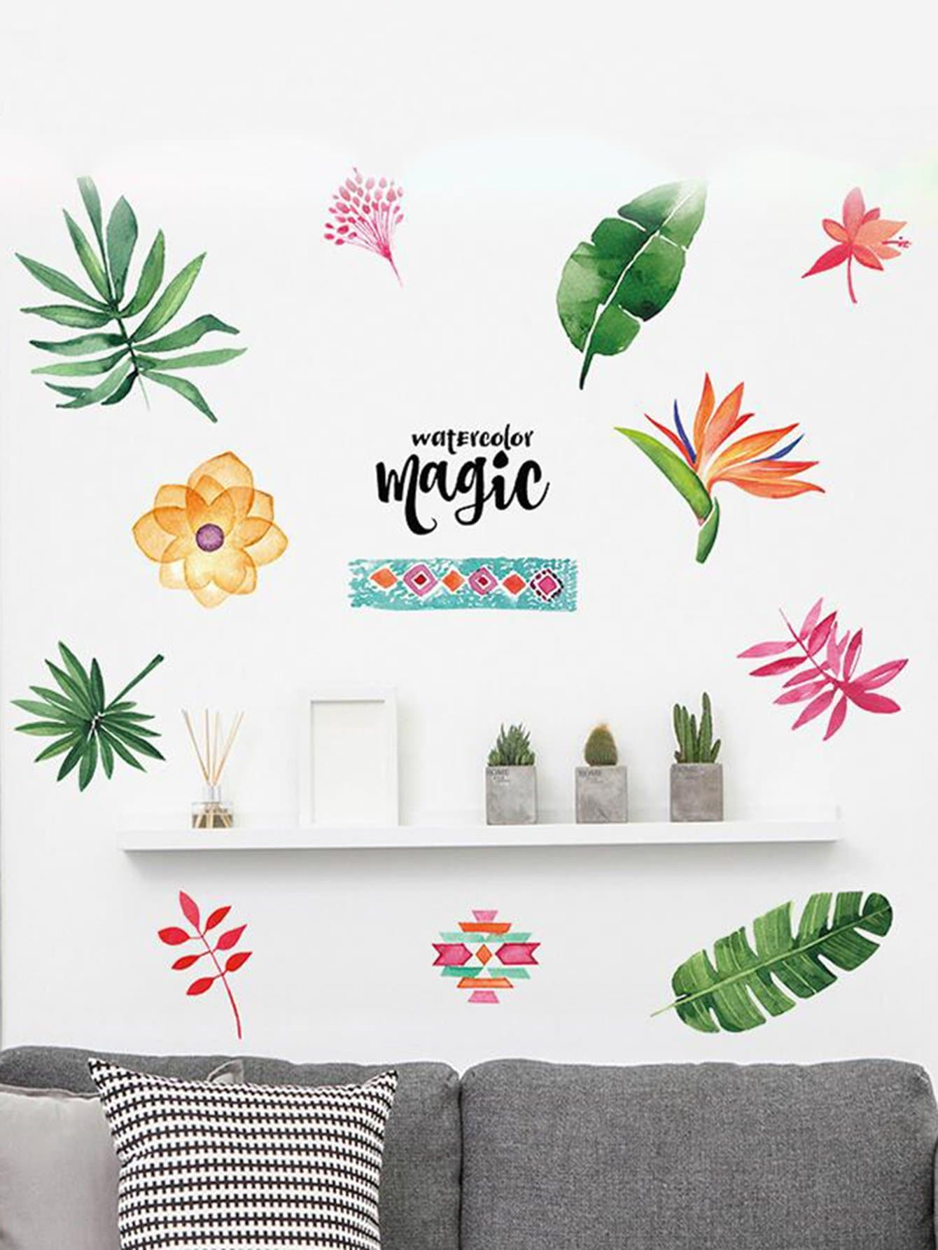 Tropical Wall Sticker tropical leaves wall sticker