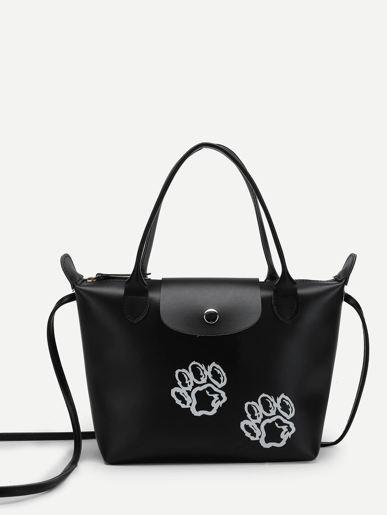 Paws Print Tote Bag 2pcs heel print tote bag