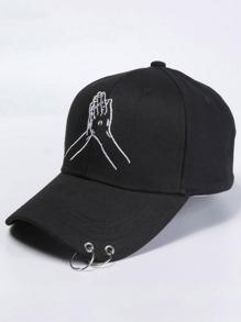 Embroidery Hand Baseball Cap