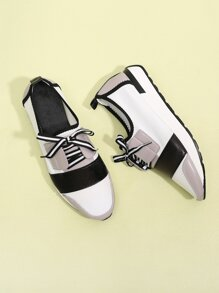 Colorblock Lace-up Trainers