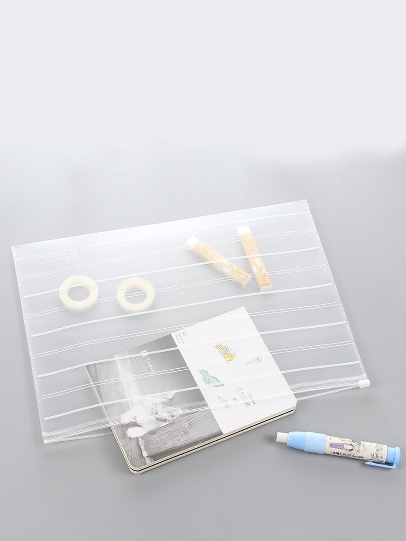 Clear File Bag-Large
