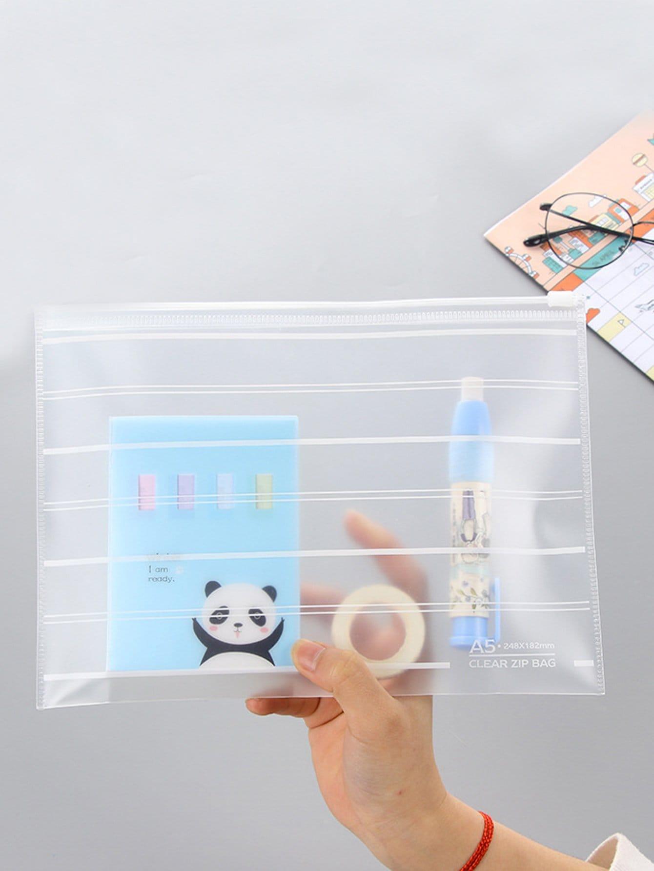Clear File Bag