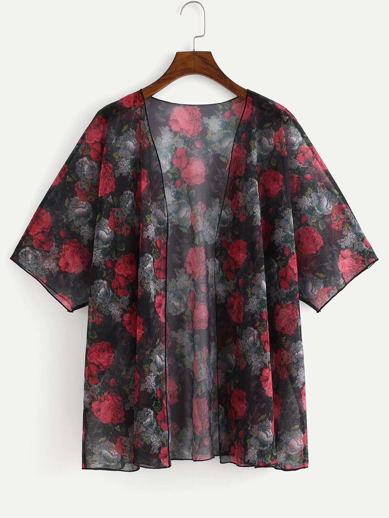 Plus Flower Print Cover-Up flower print cover up