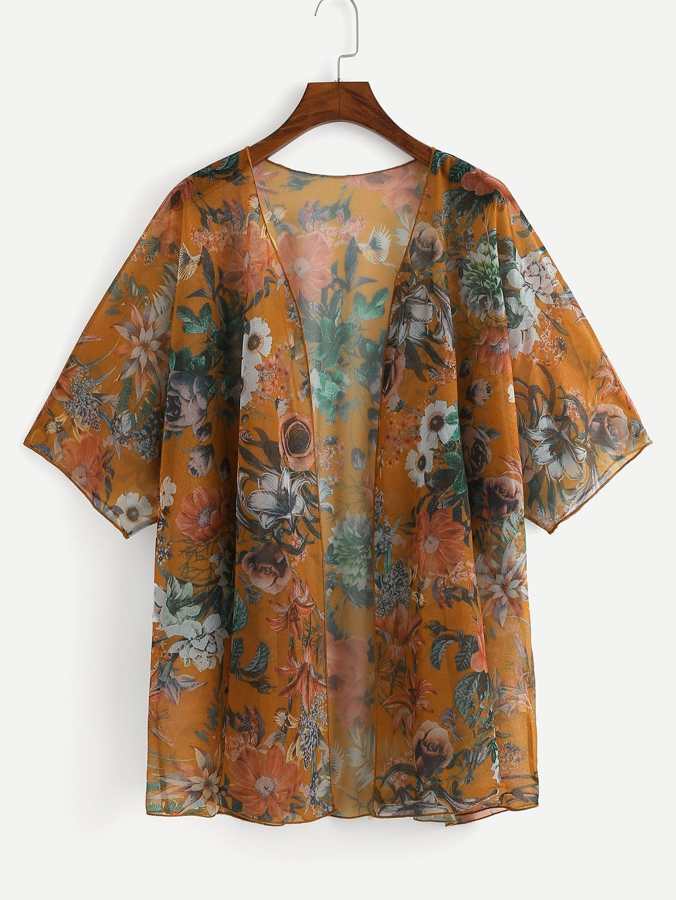 Plus Flower Print Cover-Up