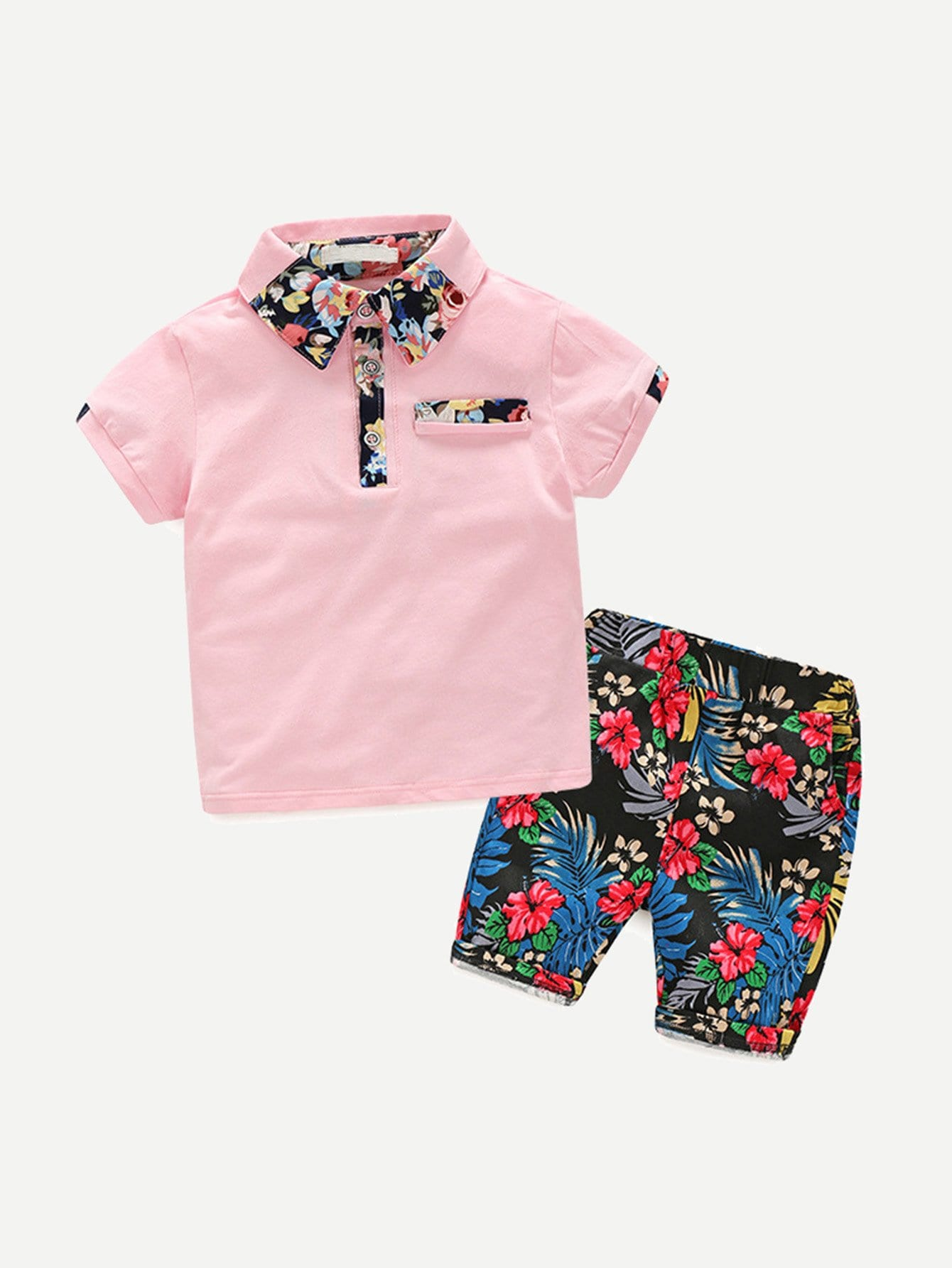 Флористическая рубашка с короткими шортами от SheIn
