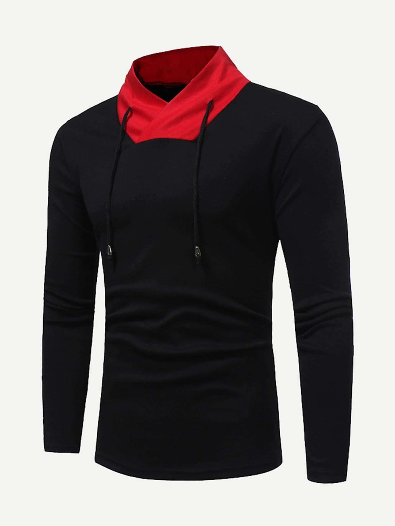 Купить Мужчины вырезать и вышивать свитер Толстовка, null, SheIn