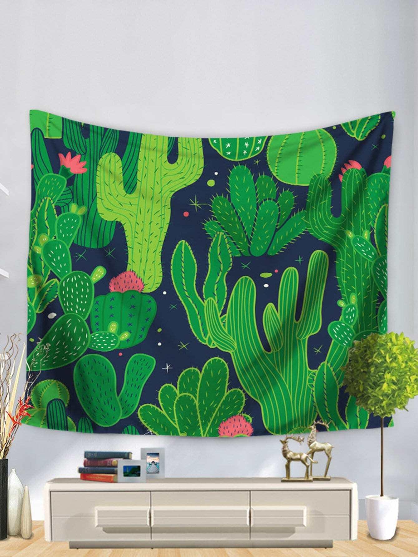 Cactus Print Tapestry cactus print tapestry