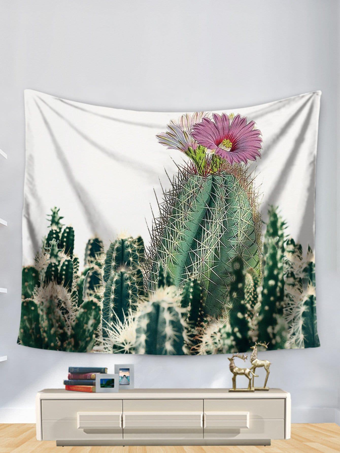 3D Cactus Print Tapestry cactus print tapestry