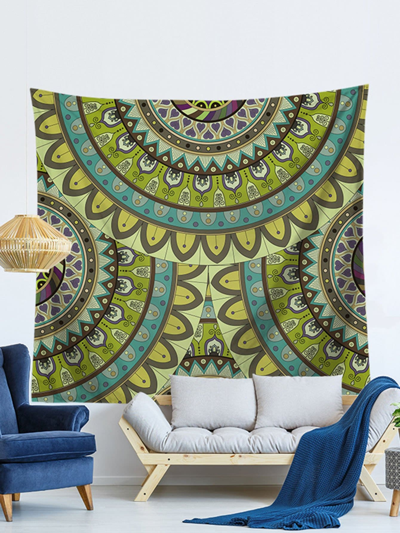 Lotus Flower Print Tapestry patchwork lotus flower print tapestry