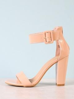 Ankle Cuff Chunky Heel