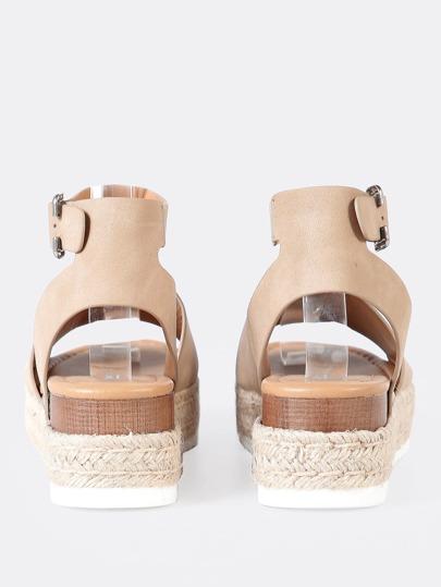 SheIn / Espadrille Platform Ankle Strap Wedge Sandals