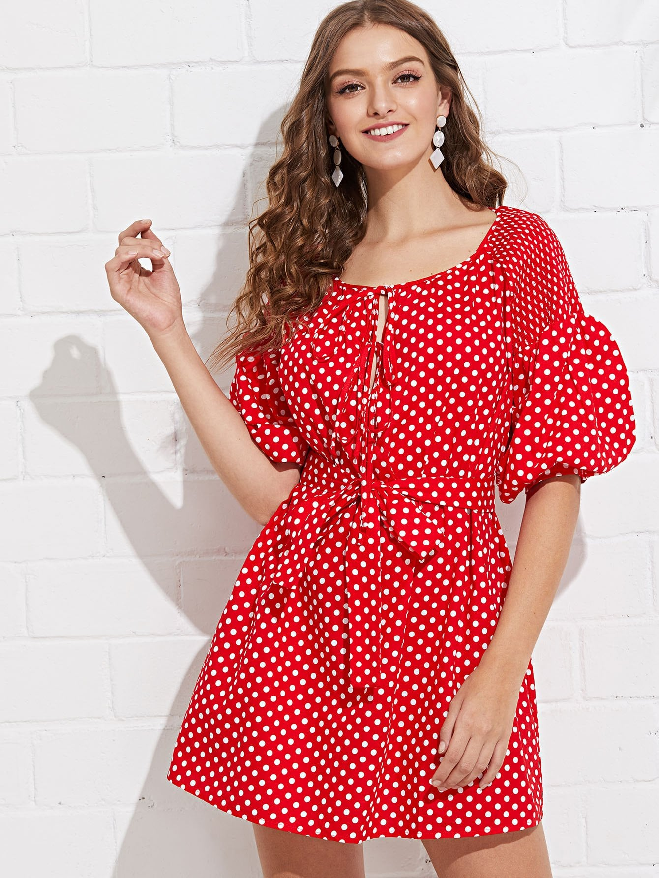Купить Платье с длинным рукавом из бисера с капюшоном, Luiza, SheIn