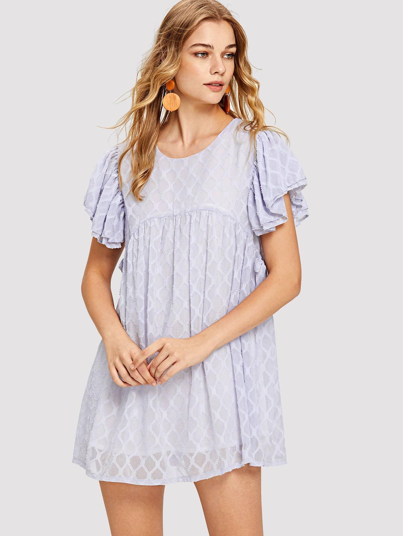 Купить Расческа Украшенное вышивальное факельное платье, Teresa, SheIn