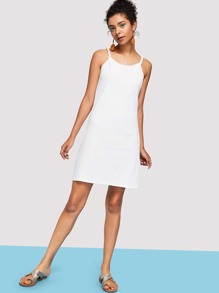 Braided Strap Jersey Dress