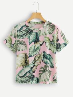 Jungle Leaf Print Tee
