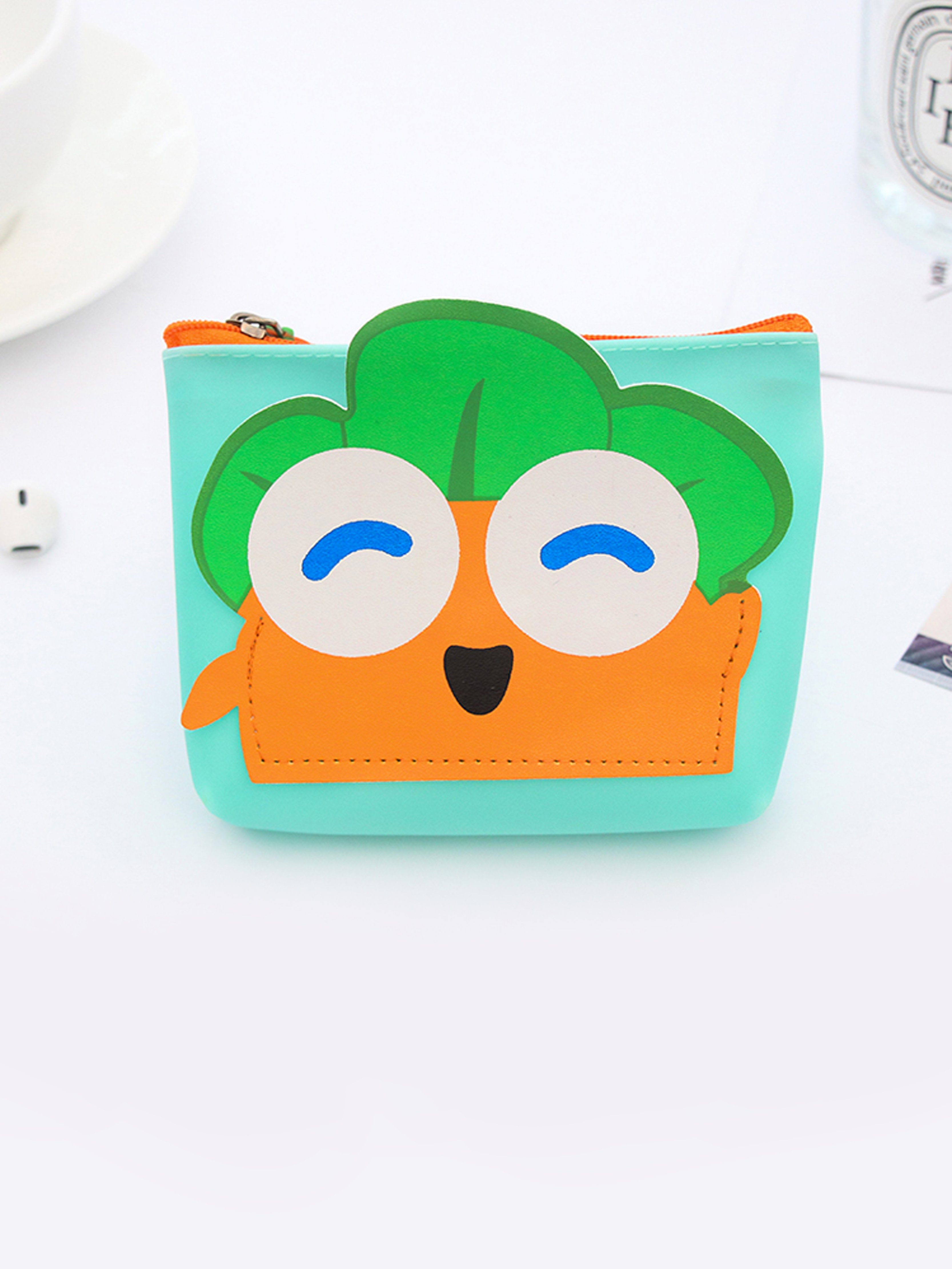Cartoon Carrot Coin Purse 3d cartoon style coin purse case mini wallet