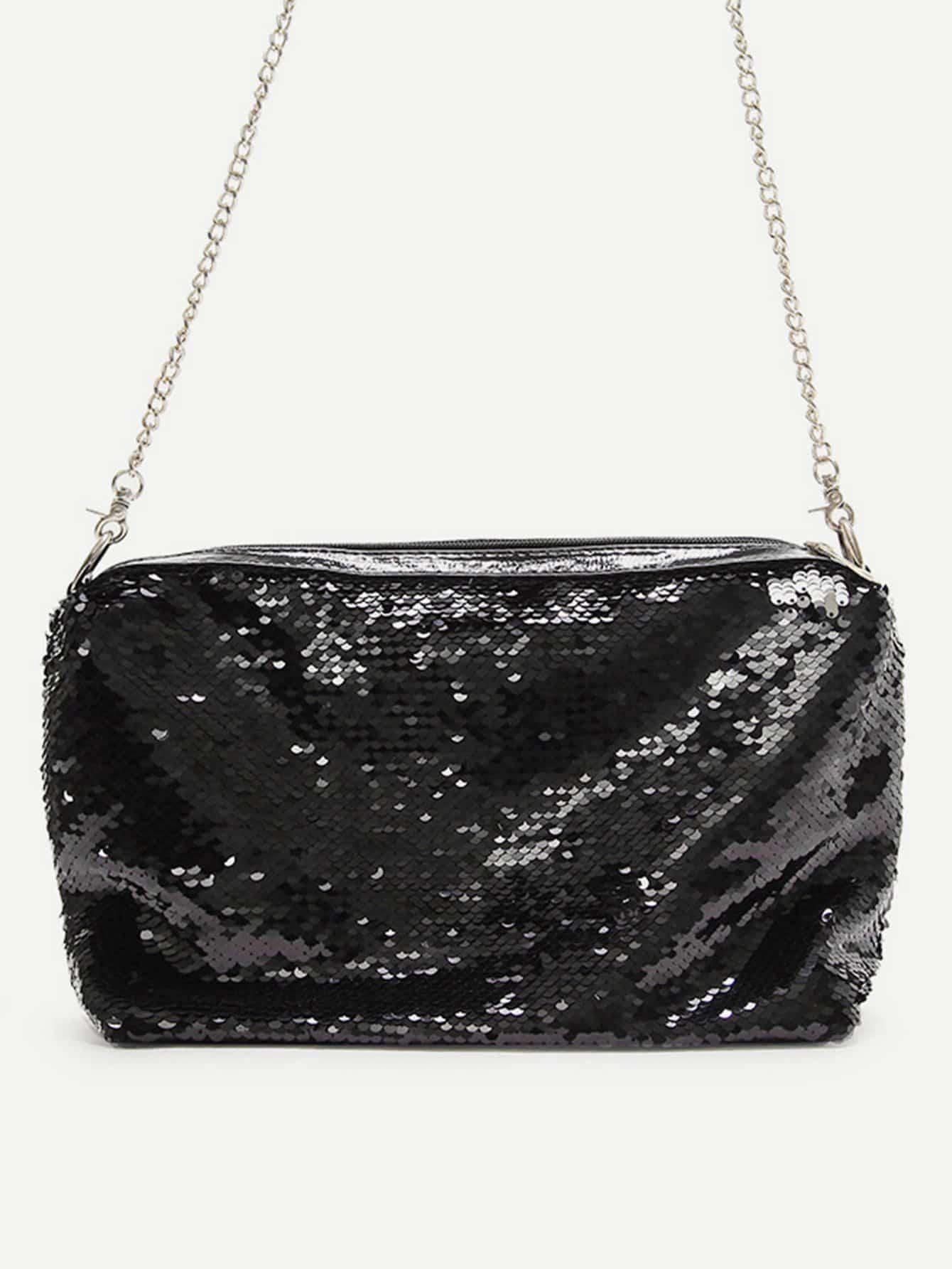 все цены на Sequin Detail Chain Bag