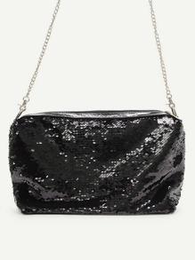 Sequin Detail Chain Bag