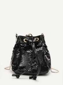 Sequin Decor Bucket Bag