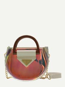 Iridescent Detail Saddle Bag